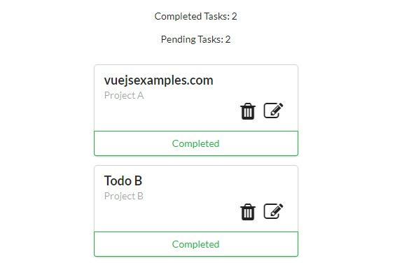 A todolist example build with vue