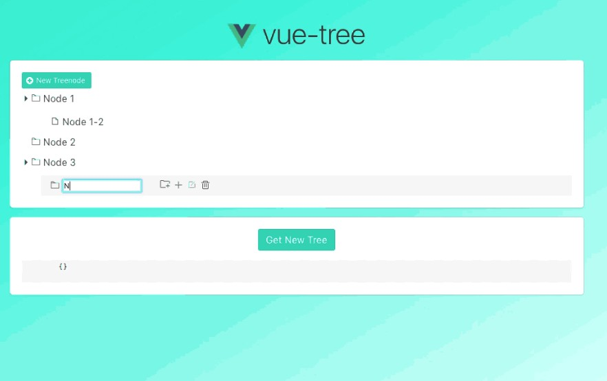 A vue component for tree structure