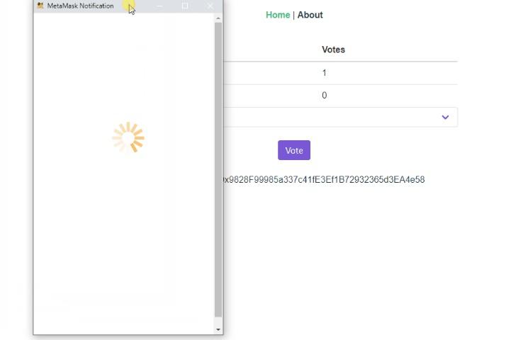 Simple voting Dapp using Vue CLI