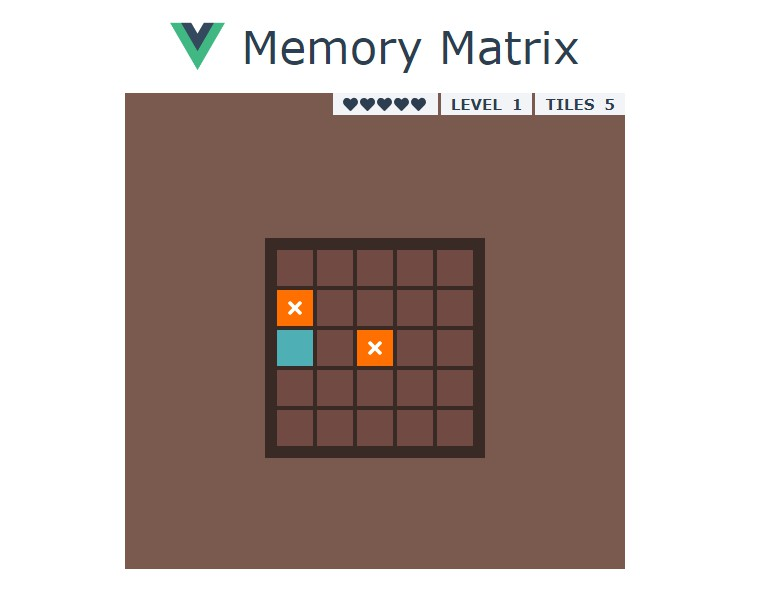 Memory Matrix with Vue