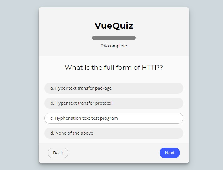 A Nice Quiz App With Vue