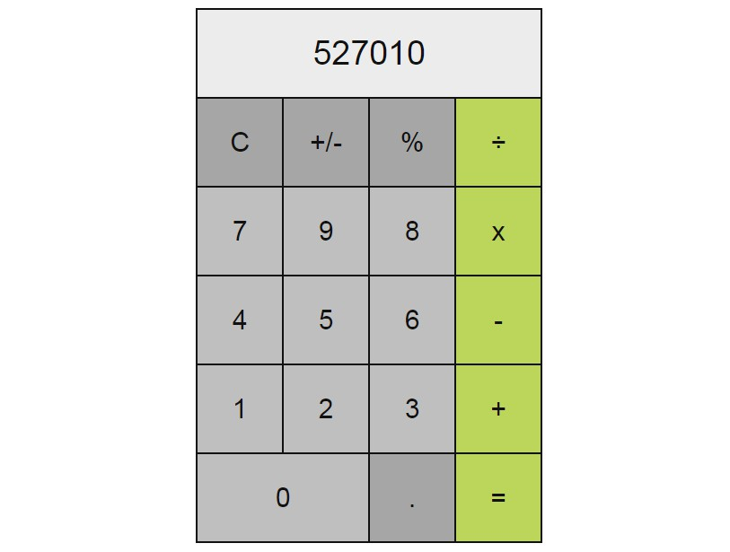 Simple calculator made with Vue.js