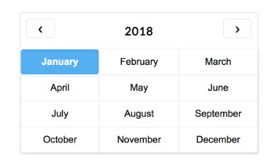 A lightweight month picker for Vue.js with no dependencies