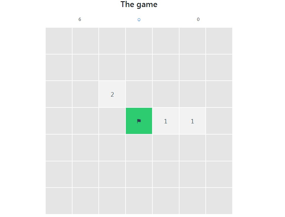 A simple minesweeper game with vue.js