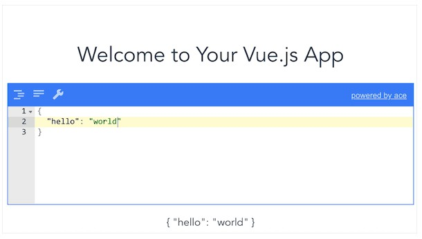 JSON Editor with Vue.js
