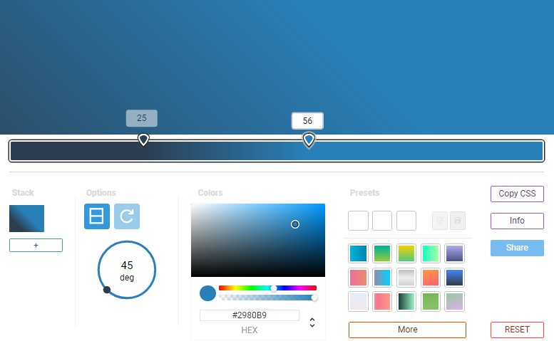 Ease to use color gradient generator with vue