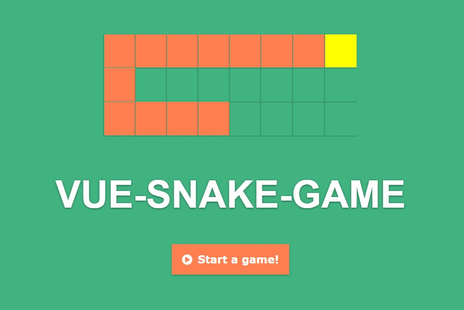 Snake game on Vue.js without canvas