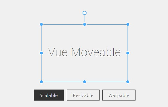 A Vue Component that create Moveable and Resizable