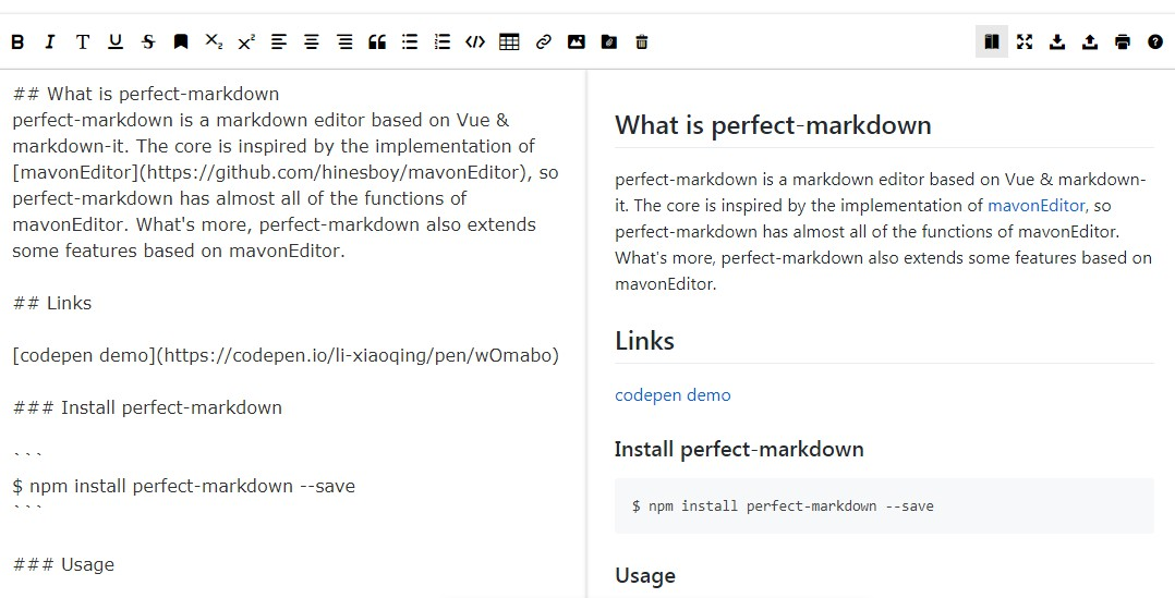 A markdown editor based on Vue & markdown-it