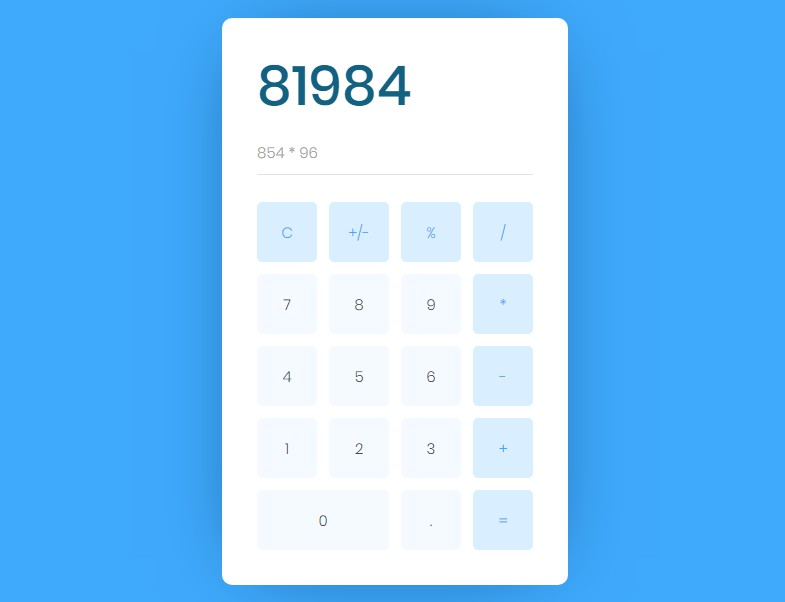A awesome calculator built with vue.js
