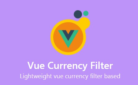 Lightweight vue currency filter based on accounting.js