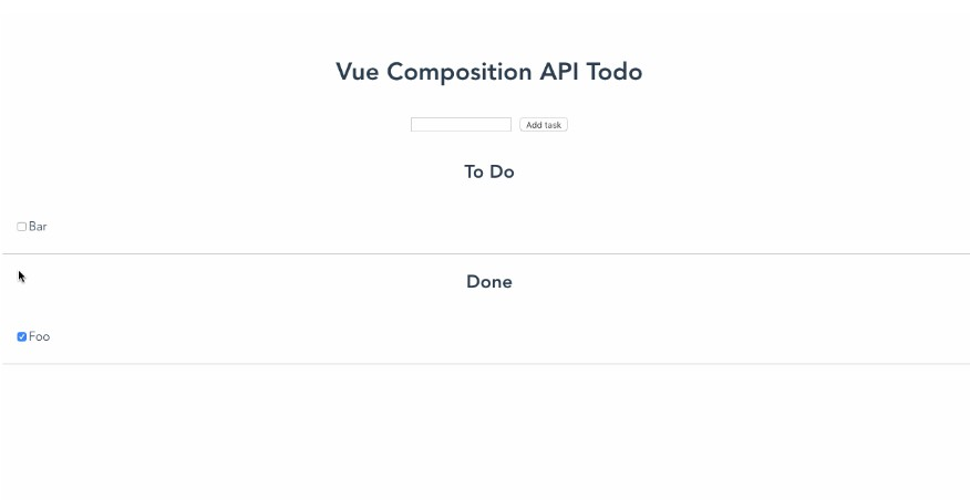 Sample app for the Vue 3 composition API