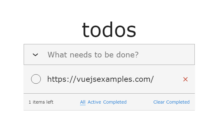 ToDo app with Vue Composition API and TypeScript