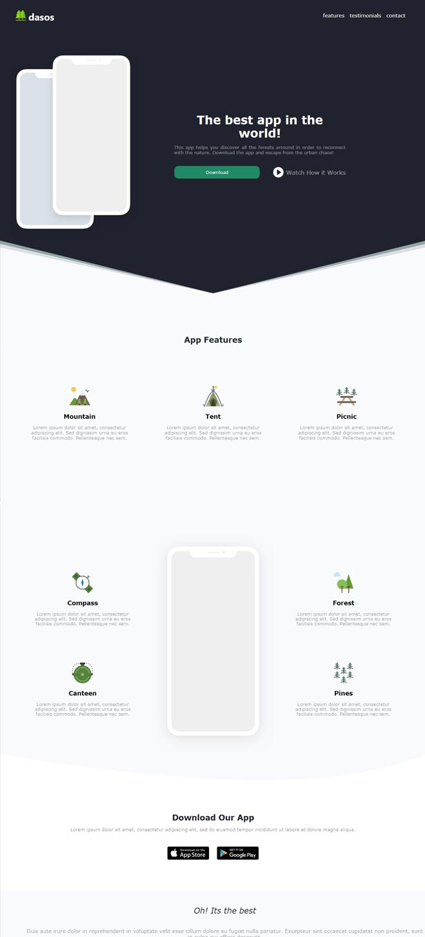 Vue Landing Page Template