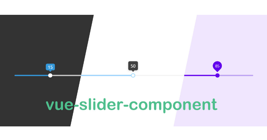 A highly customized slider component with vue